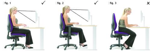 correct computer desk sitting posture